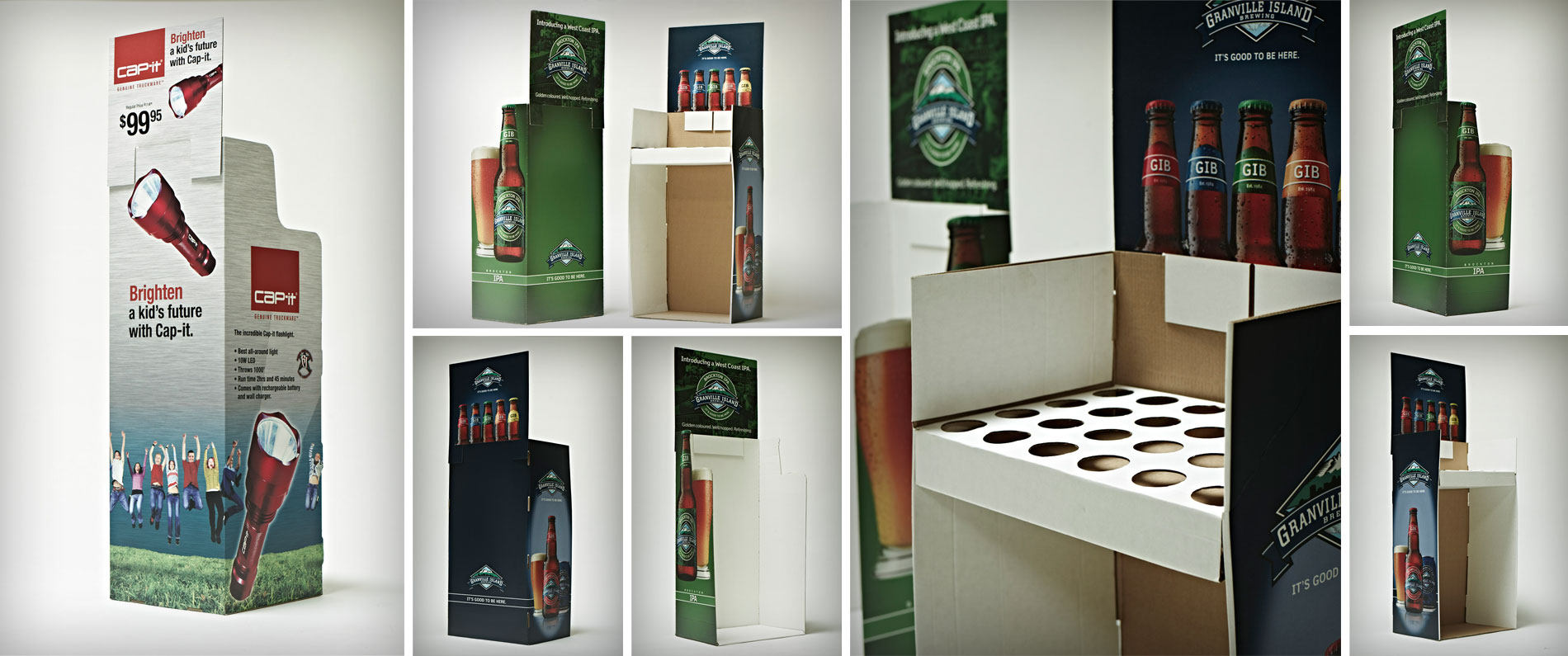 Custom point of purchase display for Granville Island Brewery