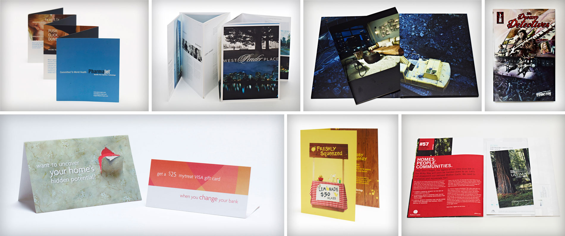 High quality comic books and brochures