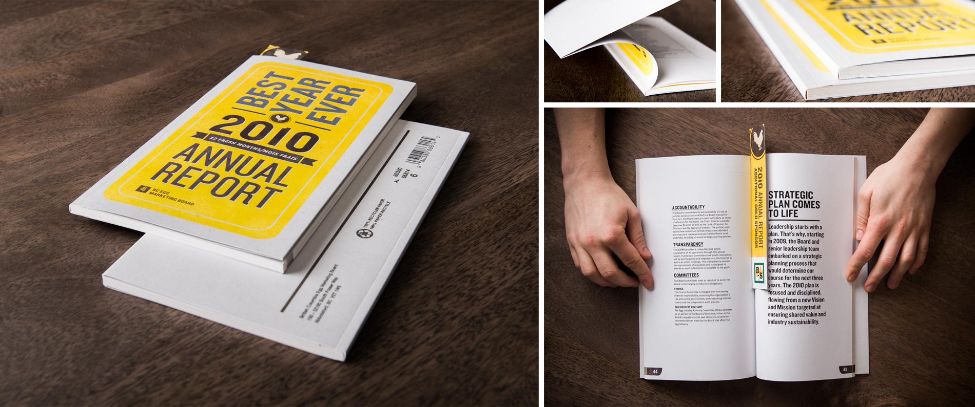 Custom printed book for BC Egg Foundation