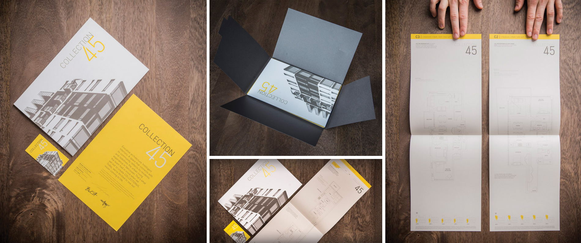 Printed brochure for Collection 45
