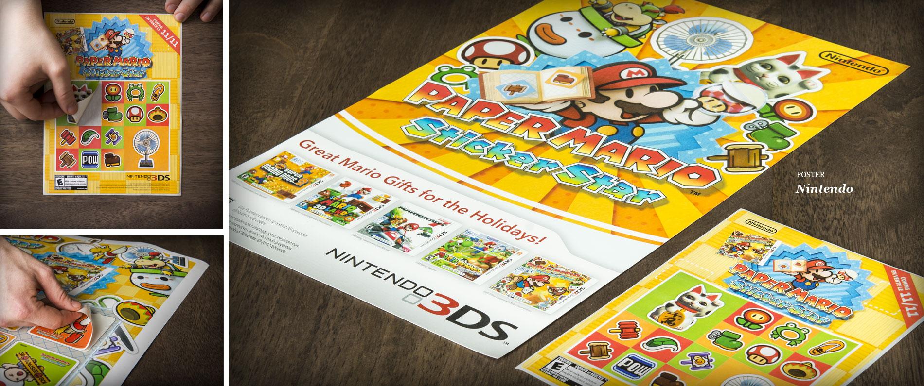 Nintendo sticker poster